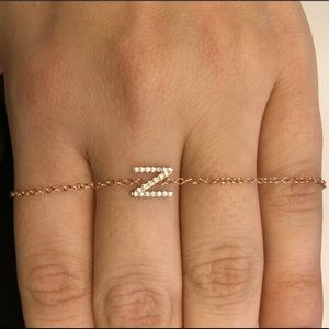 Jewelry - TODAY ONLY14k Rose Gold Diamond Initial N Bracelet